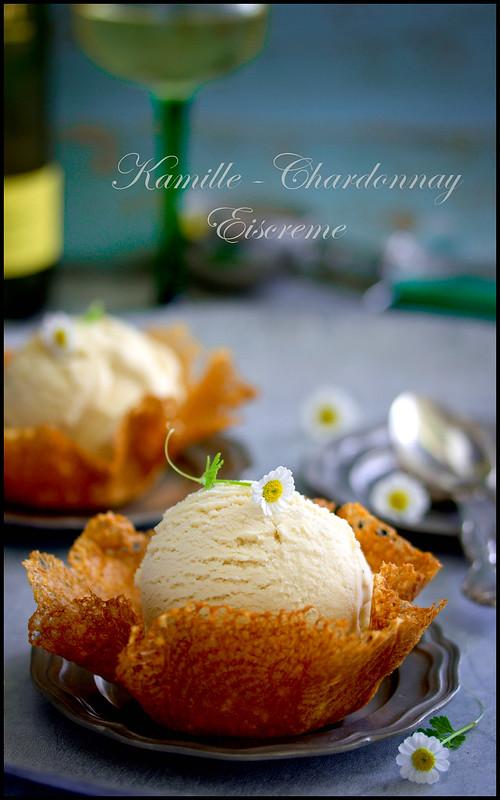 Camomile-Chardonnay  ice cream
