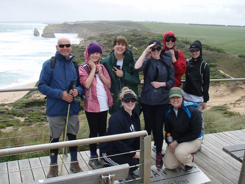 Happy faces at the end of the Great Ocean Walk
