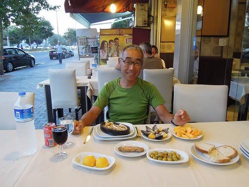海の幸の夕食