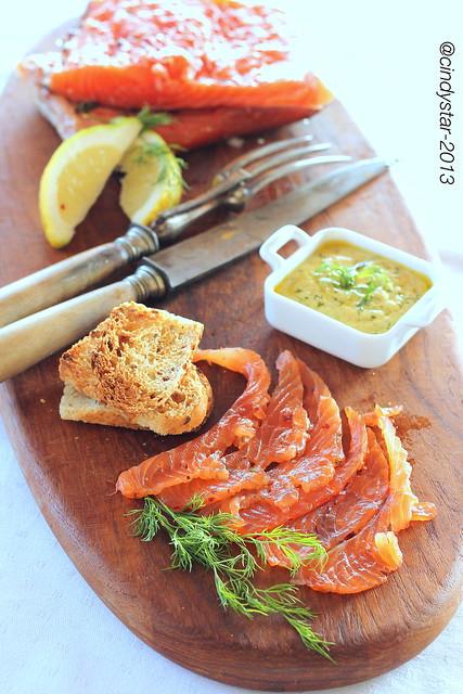 gravad lax-salmone marinato