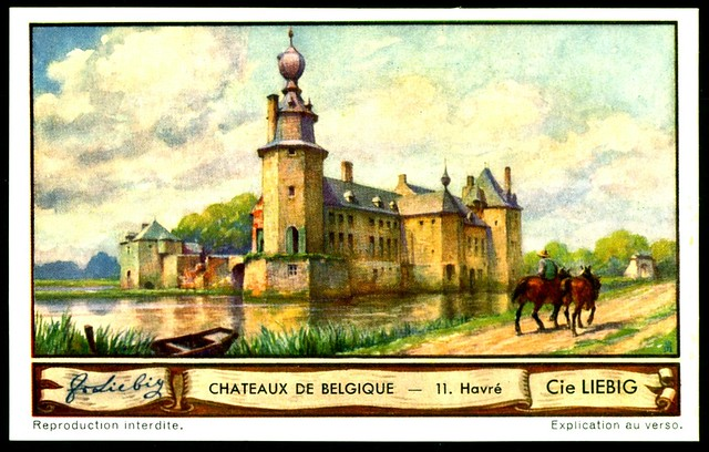 Liebig Tradecard S1288 Belgian Chateaux ~ Havre
