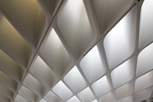 A ceiling detail from The Broad, designed by Diller Scofidio + Renfro, in Los Angeles. (Photo by C-M.)