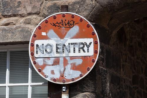 No Entry; copyright 2013: Georg Berg