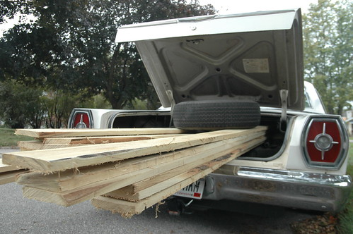 hauling a heap of black locust lumber in the galaxie 500.
