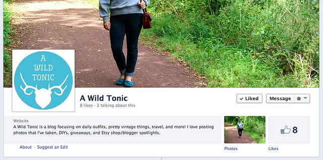 Follow A Wild Tonic on Facebook!