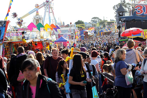 Perth Royal Show 2013 - Crowds With No Cultural Notion of Pedestrian Traffic Flow