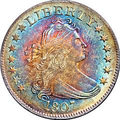1807 B-2 Quarter Dollar obverse