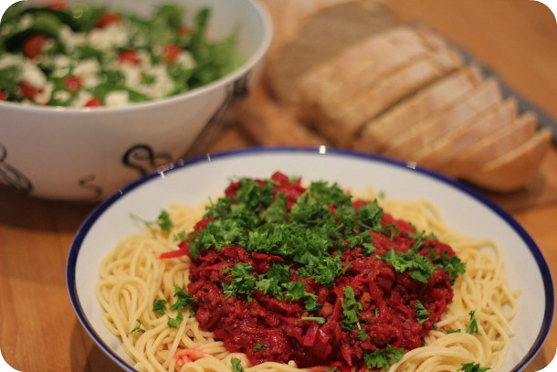 beetroot Bolognese