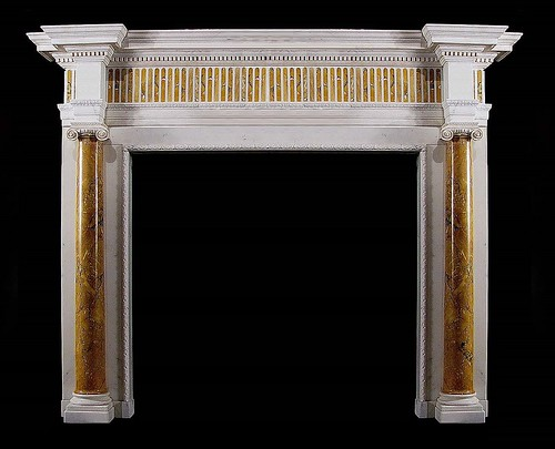 Albany inlaid marble fire surround by stephencritchley
