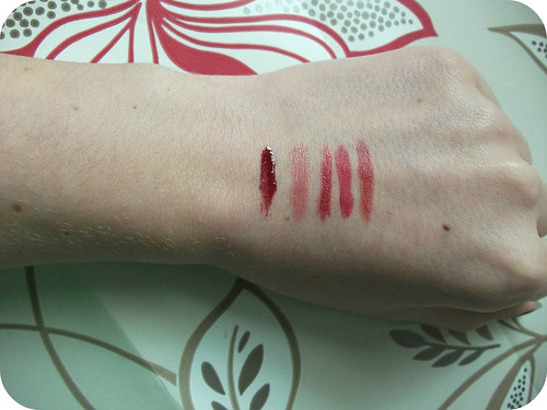 Autumn Lip Colour Swatches