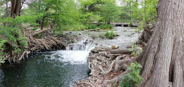 Rapids below low water crossing