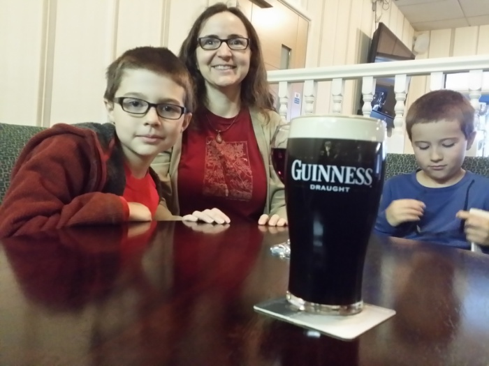 First pint of Guinness.