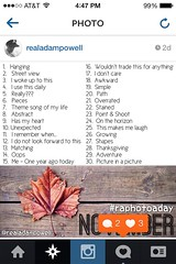 November 2013 RAPHOTOADAY Prompts