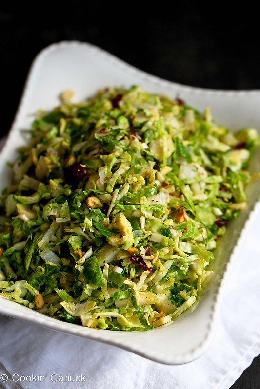 Shredded Brussels Sprouts Recipe with Pistachios, Cranberries and ...