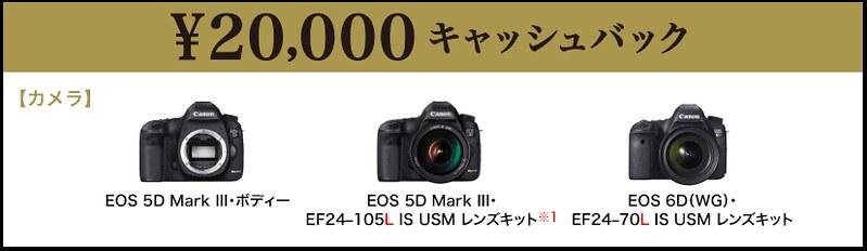 20000円キャッシュバック