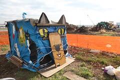可愛貓屋作行動基地。市村美佐子提供。