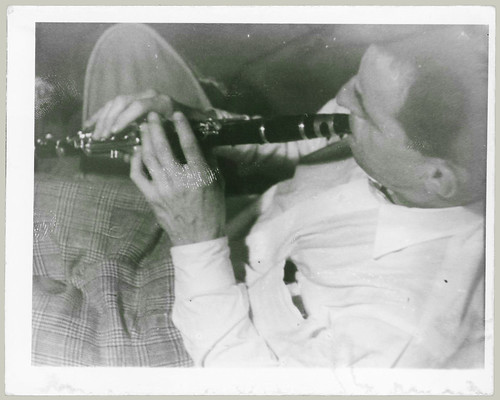 Man and clarinet