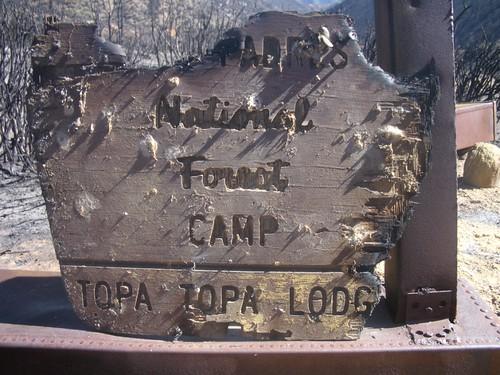 Topatopa Lodge Camp Sign No. 1