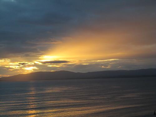 ocean sunset shoreline