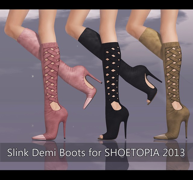 Slink Demi Boots at SHOETOPIA 2013