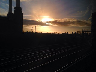 Sun rising as I approached Battersea