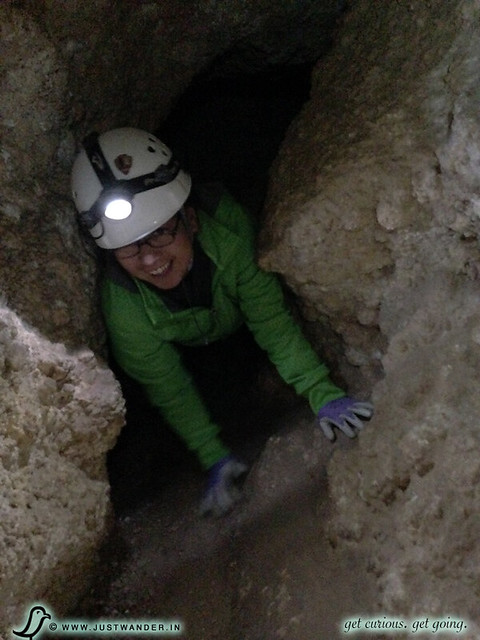 PIC: Enjoying the 3 hour Lower Cave Tour at Carlsbad Caverns National Park - Tight Squeeze introduction to their Spider Cave Tour of dirty cave crawls