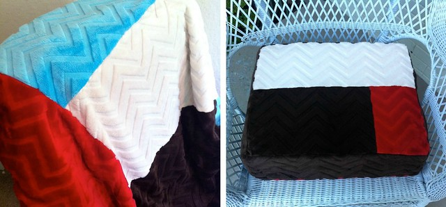 Chevron Snuggle Throw and Pet Bed