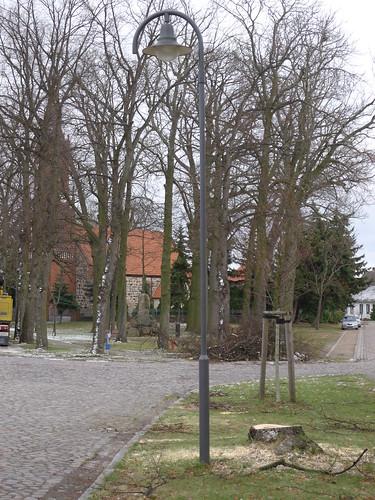 Von Sturm 'Xaver' geknickter Baum