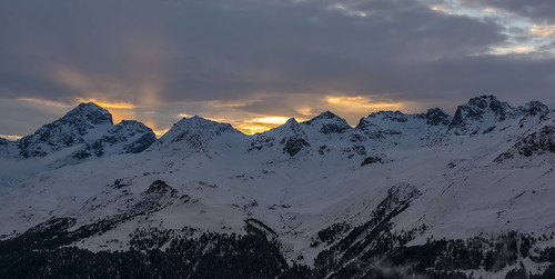 sunset panorama mountain clouds switzerland nikon sonnenuntergang cloudy engadin muragl engiadina muottas d800e