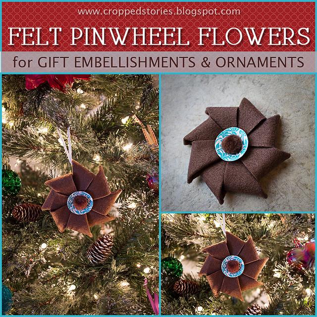 Felt Pinwheel Flower Tutorial via Cropped Stories
