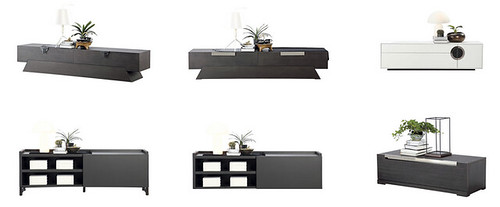picket and rail tv console collection