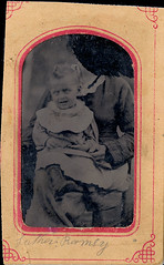Zombie Baby Held by a Headless Hidden Mother with a Scratched Out Face