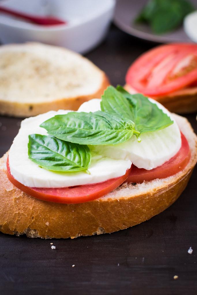 Margherita Panini Building Sandwich Closeup