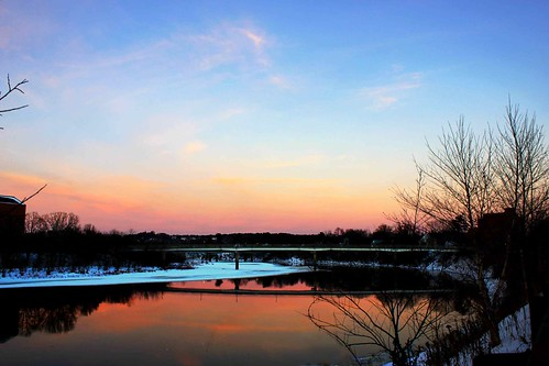 pink winter sunset red sky orange naturaleza nature rio wisconsin river atardecer december cielo