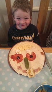 Thomas' happy lunch wrap!