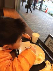 久しぶりにスタバで朝御飯(バナナ)