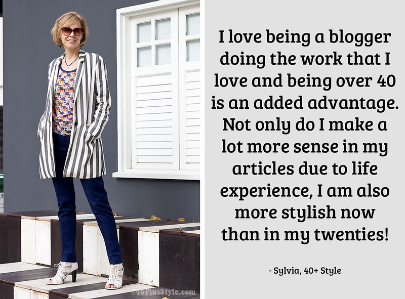Sylvia, 40+ Style on being a 40+ fashion blogger