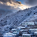 Sherpa village Namche in the morning. by hansol0
