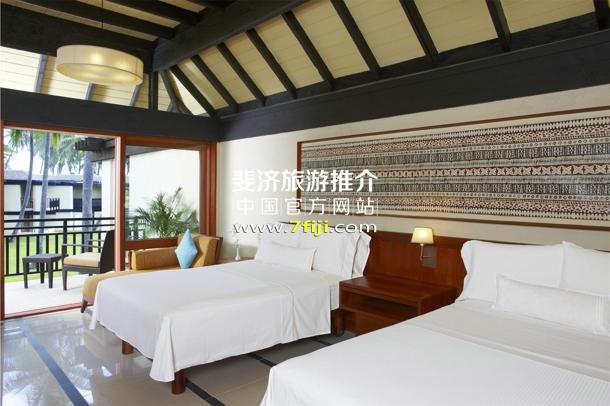 斐济威斯汀水疗度假酒店海景双床客房