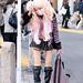 Shibuya Gyaru w/ Boots & Pink Hair by tokyofashion
