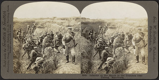 Infantry on the march in the trenches near Tieleng, Manchuria