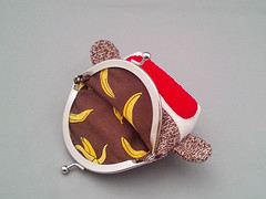 Sock Monkey Frame Purse(Interior)