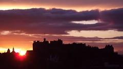 winter sunset, Edinburgh 01