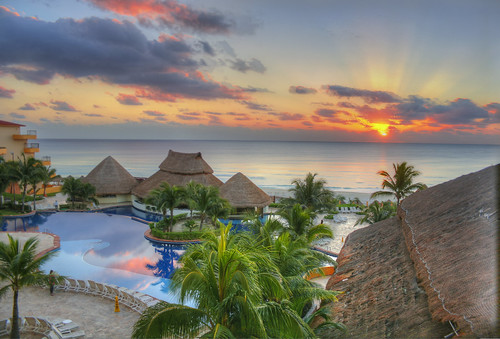 Sunrise at Cancun, Mexico