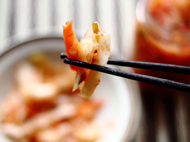 KW kimchi take a bite