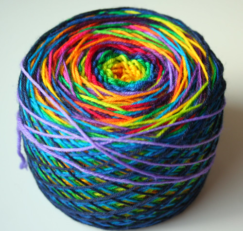 15 color rainbow yarn