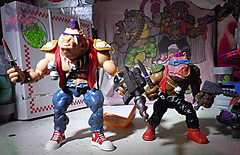 TEENAGE MUTANT NINJA TURTLES - CLASSIC COLLECTION :: ROCKSTEADY & BEBOP { tOkKustom Punk touch-ups } xxxv // ..'Bop with '88 Bebop (( 2013 ))