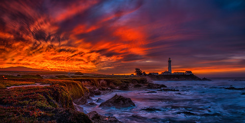 Pigeon Point On Fire