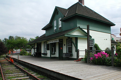 Railway Station at Fort Langley National Historic Site, Fort Langley, Fraser Valley, British Columbia