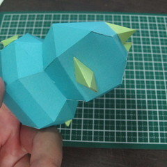 วิธีทำของเล่นโมเดลกระดาษรูปนก (Bird Paper craft ) 026